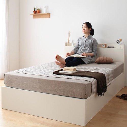 日本製・安心の品質!跳ね上げ式大容量収納ベッド【FRD】(縦開き) 【10】