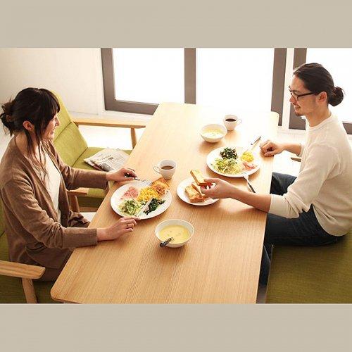 北欧風モダンデザイン!ソファダイニングテーブルセット【WDL】4点セット 【8】