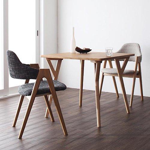 北欧風デザインダイニングテーブルセット【ILL】3点セット 【2】