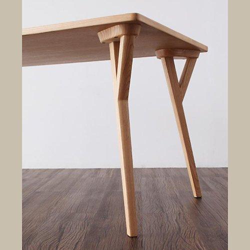 北欧風デザインダイニングテーブルセット【ILL】3点セット 【4】