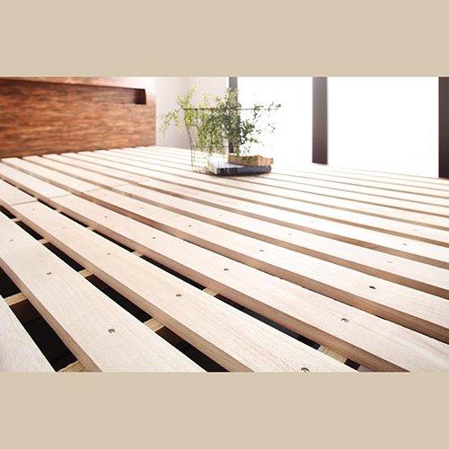 木目柄が美しい!ユーズド感溢れるおしゃれなすのこベッド【JTB】 【3】