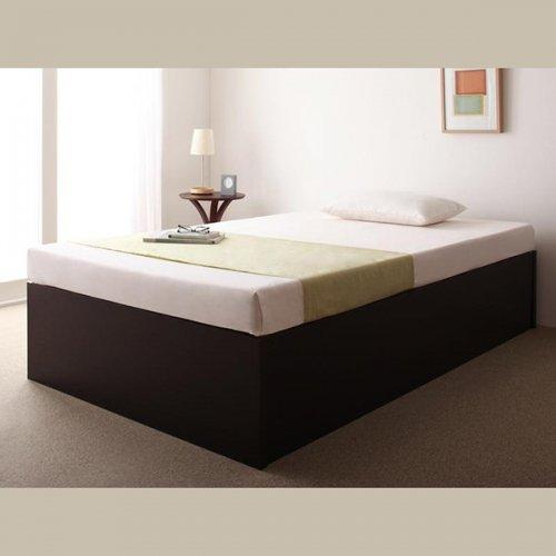 日本製・安心の品質!ヘッドボードレス大容量収納庫付きすのこベッド【OSV】 【13】