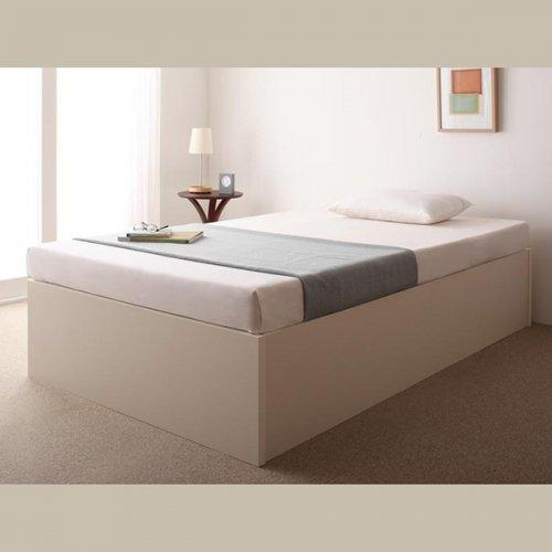 日本製・安心の品質!ヘッドボードレス大容量収納庫付きすのこベッド【OSV】 【14】