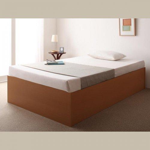 日本製・安心の品質!ヘッドボードレス大容量収納庫付きすのこベッド【OSV】 【15】