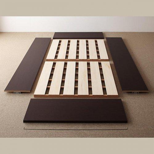 日本製・安心の品質!ヘッドボードレス大容量収納庫付きすのこベッド【OSV】 【16】