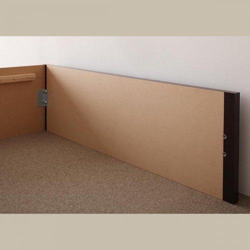 日本製・安心の品質!ヘッドボードレス大容量収納庫付きすのこベッド【OSV】 【18】