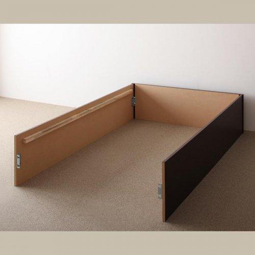 日本製・安心の品質!ヘッドボードレス大容量収納庫付きすのこベッド【OSV】 【19】