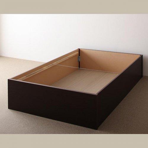 日本製・安心の品質!ヘッドボードレス大容量収納庫付きすのこベッド【OSV】 【20】