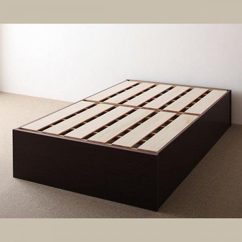 日本製・安心の品質!ヘッドボードレス大容量収納庫付きすのこベッド【OSV】 【21】
