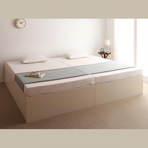 日本製・安心の品質!ヘッドボードレス大容量収納庫付きすのこベッド【OSV】 【22】