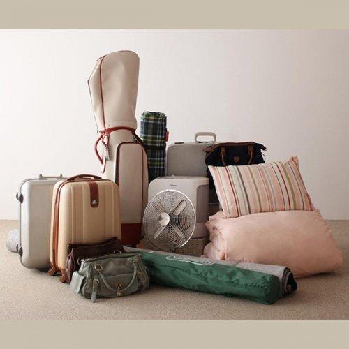 日本製・安心の品質!ヘッドボードレス大容量収納庫付きすのこベッド【OSV】 【4】