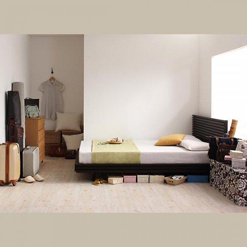 日本製・安心の品質!ヘッドボードレス大容量収納庫付きすのこベッド【OSV】 【6】