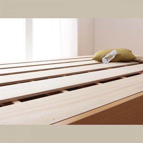 日本製・安心の品質!ヘッドボードレス大容量収納庫付きすのこベッド【OSV】 【8】