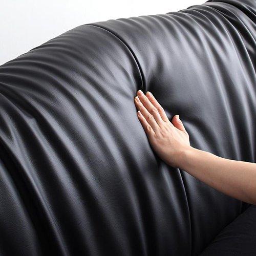 スーパーソフトレザー・ラグジュアリーデザイン流線型ベッド【FTN】(レギュラーサイズ) 【5】