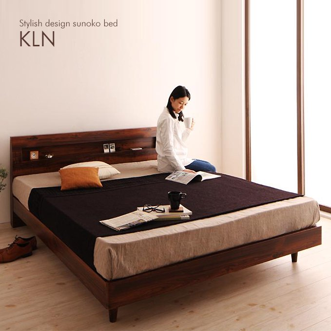 北欧ヴィンテージデザインのすのこベッド