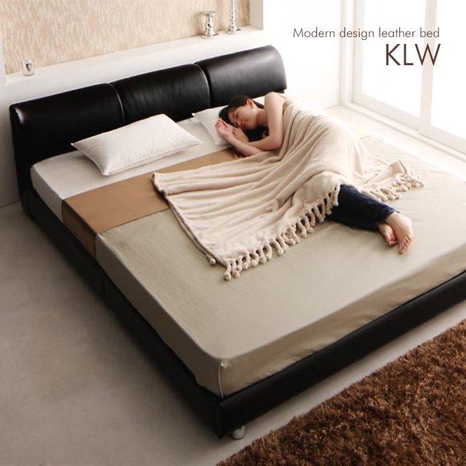 ふっくら背もたれヘッドボードのデザインベッド