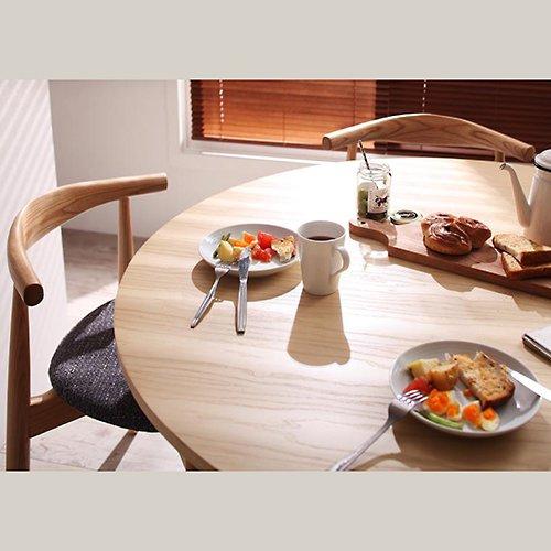 デザイナーズ・ラウンドダイニングテーブルセット【RUR】5点セット 【2】