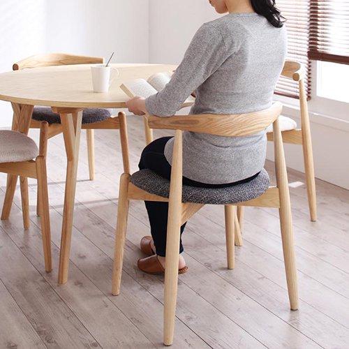 デザイナーズ・ラウンドダイニングテーブルセット【RUR】5点セット 【4】