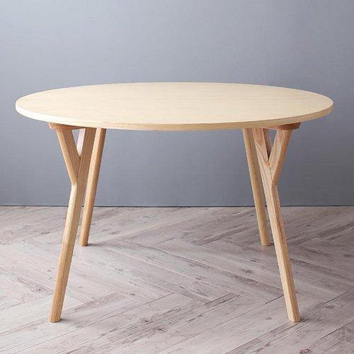 デザイナーズ・ラウンドダイニングテーブルセット【RUR】5点セット 【9】