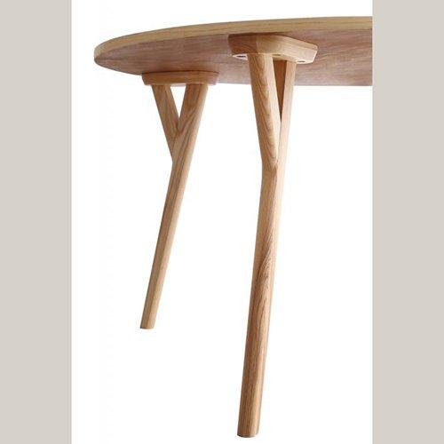 デザイナーズ・ラウンドダイニングテーブルセット【RUR】5点セット 【10】