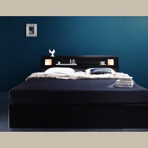 ダブル・クイーンサイズ限定収納付きベッド【FBN】 【2】