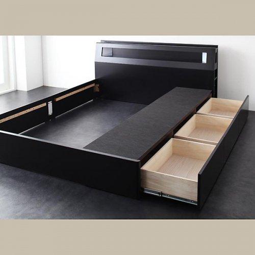ダブル・クイーンサイズ限定収納付きベッド【FBN】 【4】