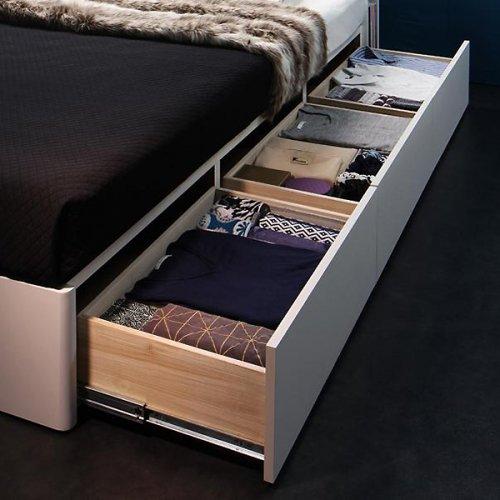 ダブル・クイーンサイズ限定収納付きベッド【FBN】 【5】