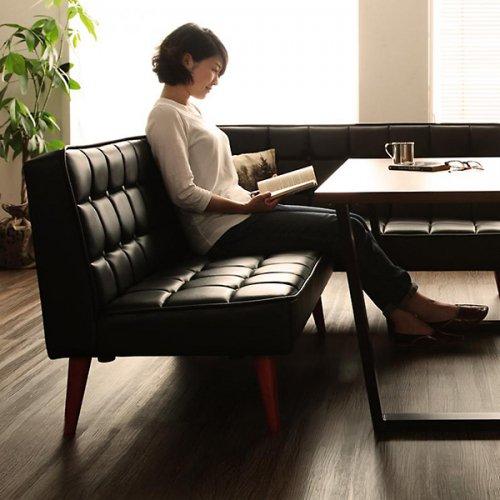ヴィンテージデザイン・リビングダイニングテーブルセット【CSC】4点オットマンセット 【6】