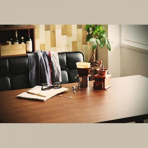 ヴィンテージデザイン・リビングダイニングテーブルセット【CSC】4点オットマンセット 【7】