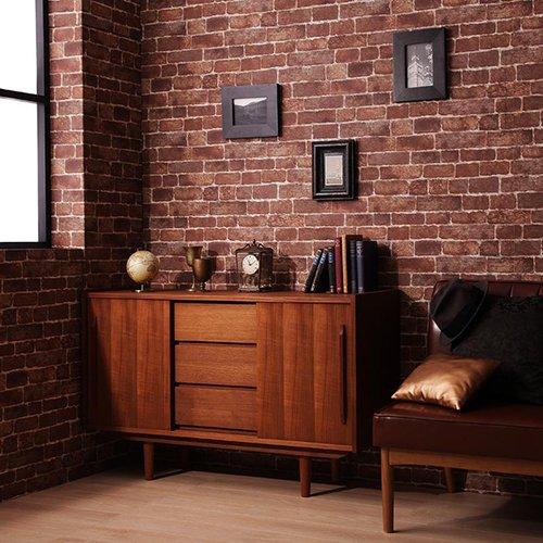 高級チーク材使用!北欧アンティーク調デザイン家具【AML】リビングボード 【4】