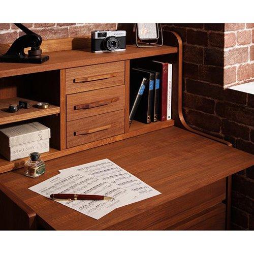 高級チーク材使用!北欧アンティーク調デザイン家具【AML】ライティングデスク 【5】