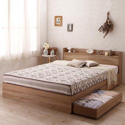ガールズルームにぴったり!ホワイトカラー収納ベッド【FLR】(ショート丈) 【5】