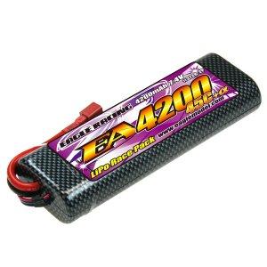 Li-PoバッテリーE A4200/7.4V 45C+α 2P・ハードラウンドケース[3728-2P]