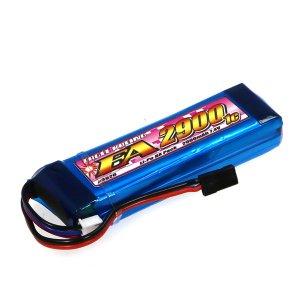 Li-Poバッテリー EA2900/7.4V1C M12&MT4送信機用平型サイズ[3926]