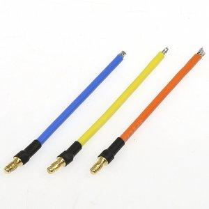 スモール・ヨーロピアンコネクターC 3.5mm14Gコード付 (オス3pcs)[1467-14AWG-80]