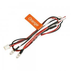 3mmエディショナルLEDライトセット(2灯)-オレンジ[NLD03LP-OR]