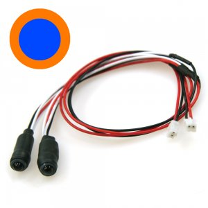 5mmツインアクションイカリング・LEDシステム用[中BL外OR][LED-09-BL/OR]