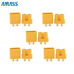 AMASS 純正XT30Uコネクター オスメス5ペア[185071]