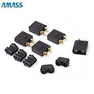 AMASS 純正XT90コネクター(BK) オス5個セット[107897]