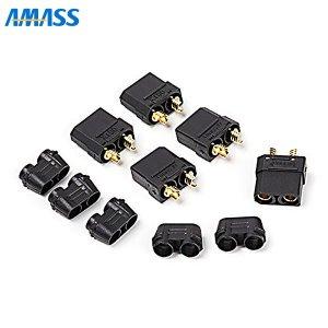 AMASS 純正XT90コネクター(BK) メス5個セット[107903]