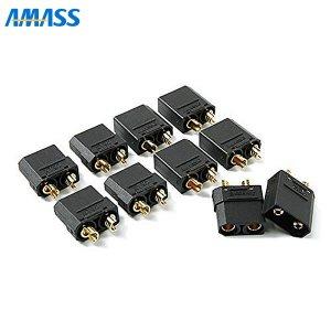 AMASS 純正XT90コネクター(BK) オスメス5ペア[107891]
