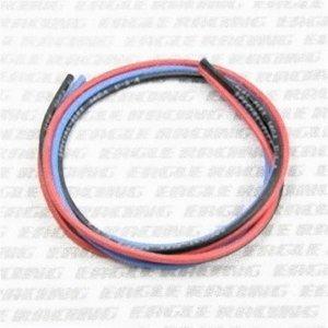シリコン銀コードセット・14G[ゲージ](赤黒青 各60cm)[968]