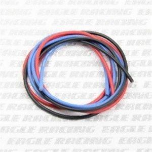 シリコン銀コードセット・16G[ゲージ](赤  黒  青 各60cm)