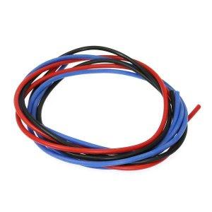 シリコン銀コードセット・18G[ゲージ](赤  黒  青 各60cm)