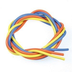 シリコン銀コードセット・12G[ゲージ](青黄橙 各60cm)[3220]