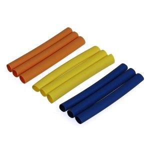 3カラー収縮チューブ5mm(青  黄  橙)各3pcs