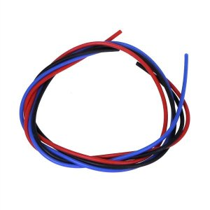 シリコン銀コードセット・20G[ゲージ](赤  黒  青 各40cm)