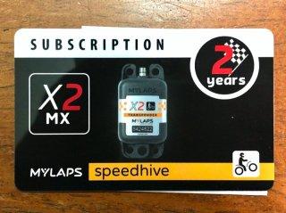 MYLAPS X2ーMX用サブスプリクションカード 2年間ライセンス