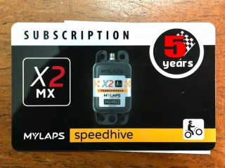 MYLAPS X2ーMX用サブスプリクションカード 5年間ライセンス
