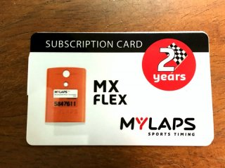MYLAPS フレックスMX用(旧型オレンジボディ)サブスプリクションカード 2年間ライセンス